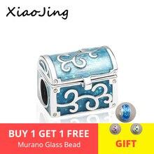 New design luxury jewelry Gift box charms 925 Silver Beads Fit pandora Bracelets diy Fashion Jewelry making women