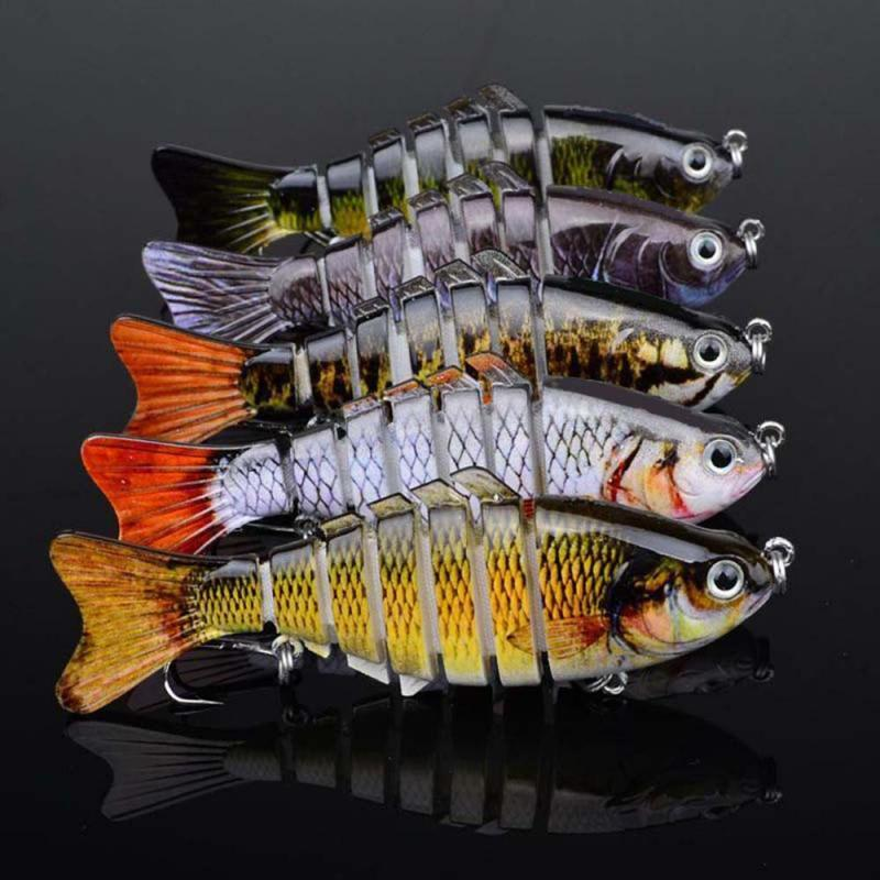 1Pcs Artificial Baits Fishing Lures Minnow Fishing Hard Lures Baits Crank Baits With Hooks Jointed Swimbait  Bass Trout Fishing