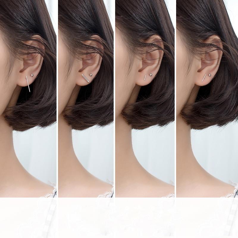 La Monada Women Earings Studs 925 Sterling Silver Geometry Minimalist Fine In Jewelry Stud Earrings For Women Silver 925 Korean