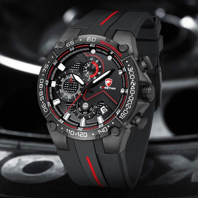Top Brand CHEETAH Men Watch Casual Business Wristwatch Fashion Luxury Silicone Strap Sports Waterproof Clock Relogio Masculino 4
