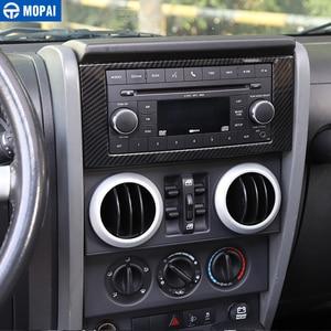 Image 5 - MOPAI רכב לוח מחוונים ניווט CD פנל מסגרת קישוט כיסוי מדבקות עבור ג יפ רנגלר JK 2007 2010 אביזרי רכב סטיילינג