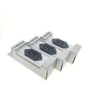 Image 2 - FURUTECH FI 06(G) Pure Copper IEC Inlet AC socket Filter HiFi with power plan socket Original packing box MATIHUR 3pcs