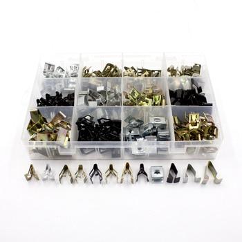 Mixd Metal Clips Retainer Instrument panel Auto Fasteners Universal Car Body Radios Dashboard DVD U cord lock Clip