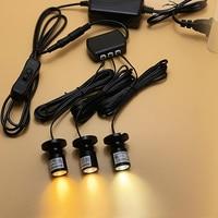 Mini LED Light Fixture Picture Spotlight Adjustable Desk Lamp Power Adapter Hub Black shell