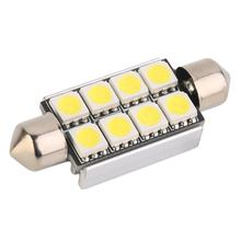 1Pc 42Mm C5W C10W Canbus Ada Kesalahan Festoon 8 Led 5050 Smd Mobil Licence Plate Light Auto Perumahan interior Dome Lampu Lampu Baca(China)