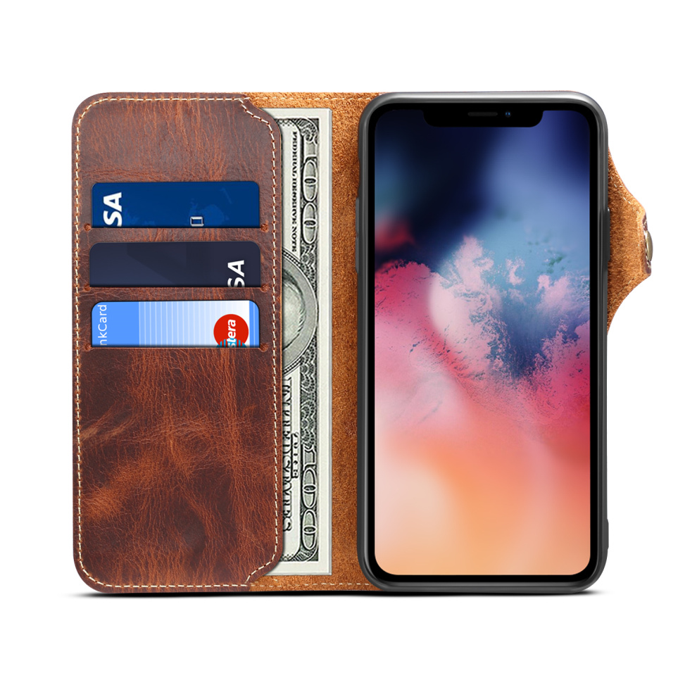 Durable Genuine Leather Wallet Case for iPhone 11/11 Pro/11 Pro Max 5