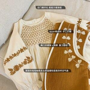 Image 3 - فستان للأطفال بناتي الوطني نمط فستان مطرز 2020 ربيع جديد موضة فستان طفل ملابس طفلة