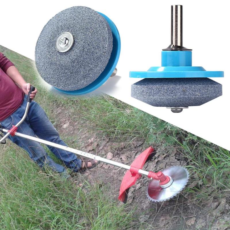 Universal Grinding Rotary Drill Lawnmower Blade Sharpener Multi-function Sharp Knife Edge No Trough  Garden Grindstone Tool