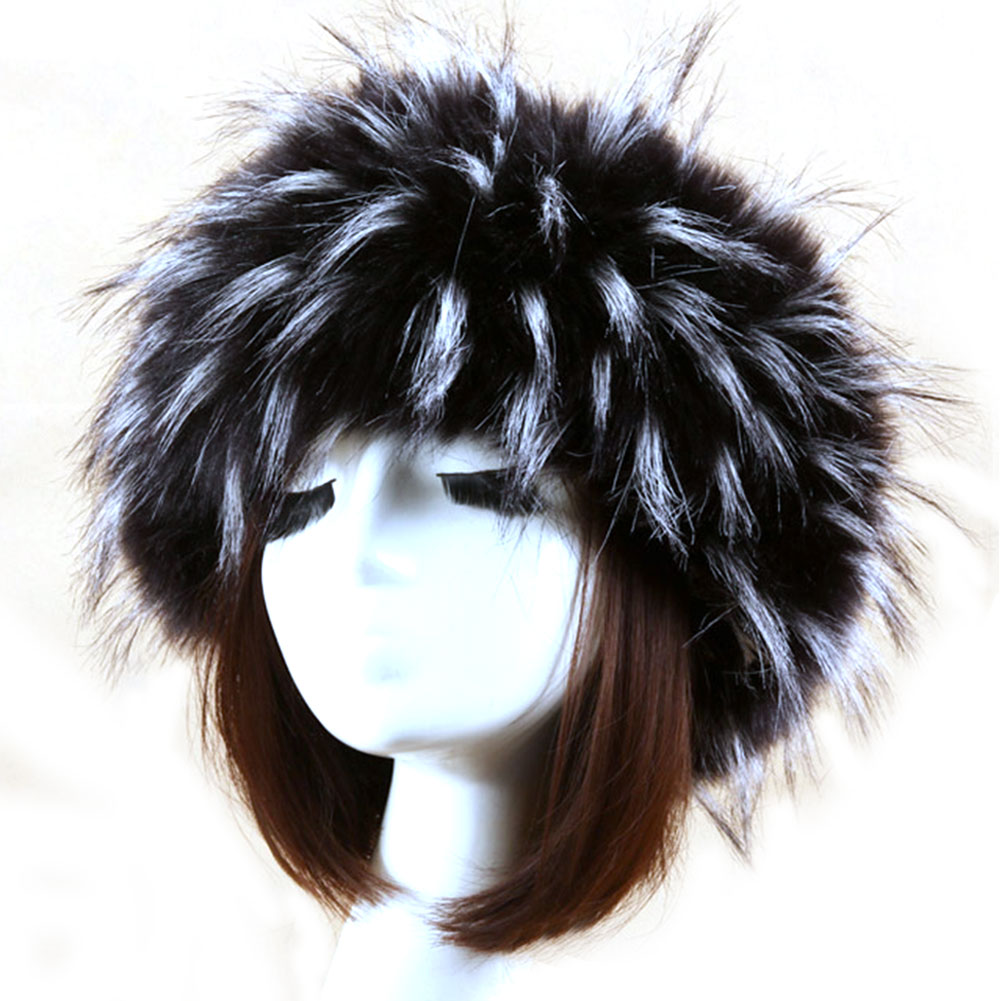 Faux Fur Headband Hair Accessories Winter Warm Fox Turban Earmuff Visor Cap Girls Women Autumn Fashion Ear Warmer Hair Band