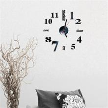 3D DIY Roman Numbers Acrylic Mirror Wall Sticker Clock Home Decor Mural Decals sw5