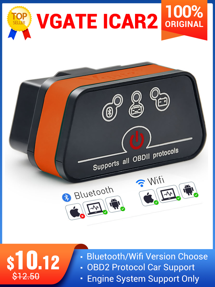 ELM327 Obd2 Code-Reader Automotive-Diagnostic-Scanner Bluetooth Vgate Icar2 Android/pc/Ios