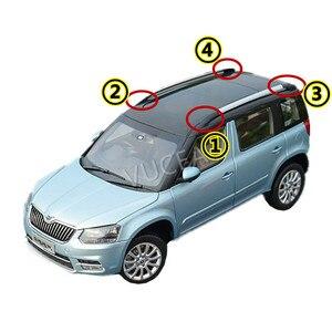 Image 2 - 1 adet çatı bagaj rafı bekçi siyah renk plastik kapak çin Skoda YETI SUV oto araba motor parçaları