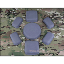 emersongear Emerson ACH MICH Helmet Cushion Pad Set Tactical Protective Cushion Foam Padding black bk color special swat force sticky hook and loops set for marsoc devgru ops fast mich ach lwh cvc pasgt gentex helmets