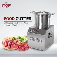 ITOP 4L Food Cutter Heavy Duty Meat Chopping Grinder Machine Chopper Garlic Chili Processors 220V