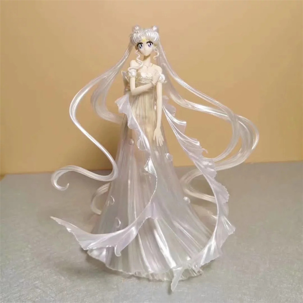 Sailor Moon Anime <font><b>Figures</b></font> <font><b>Girl</b></font> PVC Toys Tsukino Usagi Wedding Dress Collectible Model Sailor Moon <font><b>Action</b></font> Figurine Figma Juguetes image