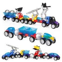56 шт магнитные блоки игрушки машинки палочки металлические