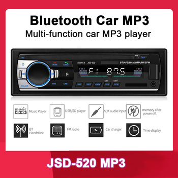 new arrival 12V 1 one single din Car Stereo remote control FM Radio MP3 Audio Player Support Bluetooth Phone USB/SD music