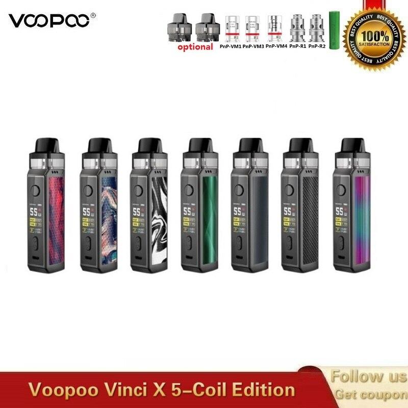 Original VOOPOO VINCI X Pod Kit Powered By Single 18650 Battery Dual-coil System With 5.5ml Cartridge VS Vinci Kit Drag 2 Vape