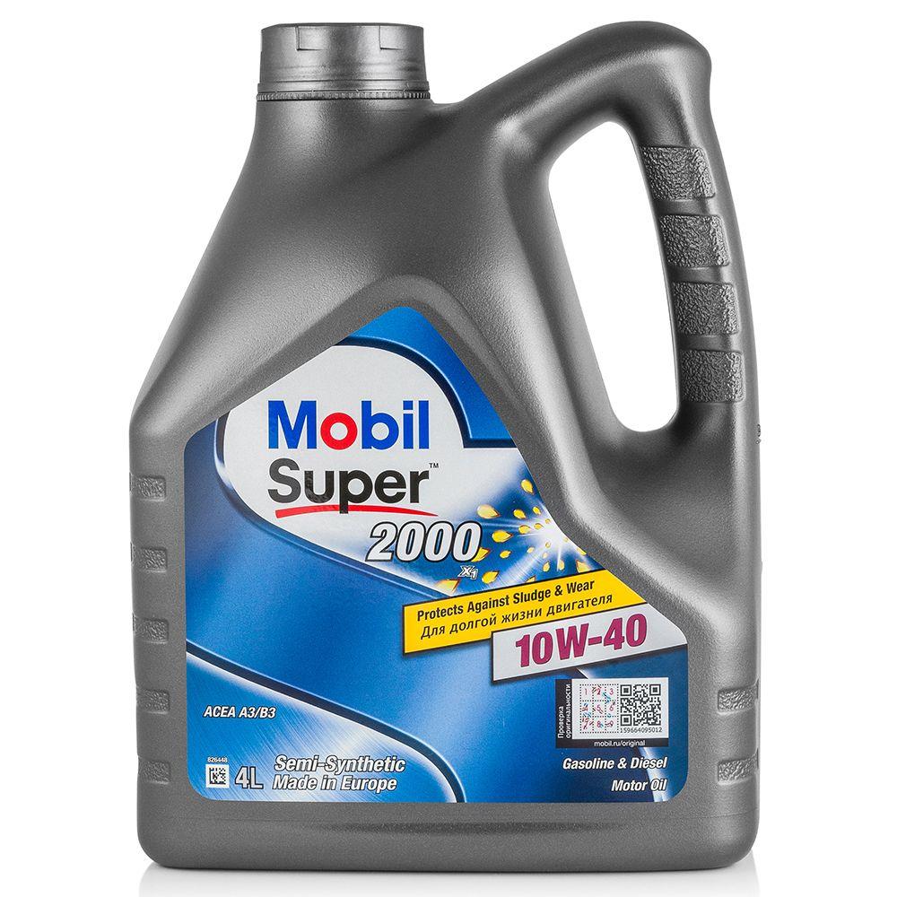 Моторное масло MOBIL SUPER 2000 X1 10W40 4L (152568)