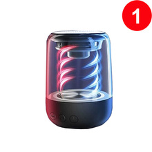 Mini Bluetooth Lautsprecher Musik Stereo HIFI Soundbox mit LED Licht Mikrofon für Smartphone PC
