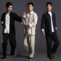 coat + pants men male black china traditional Martial arts clothing sets wing chun clothes tai chi tang suits kung fu uniforms