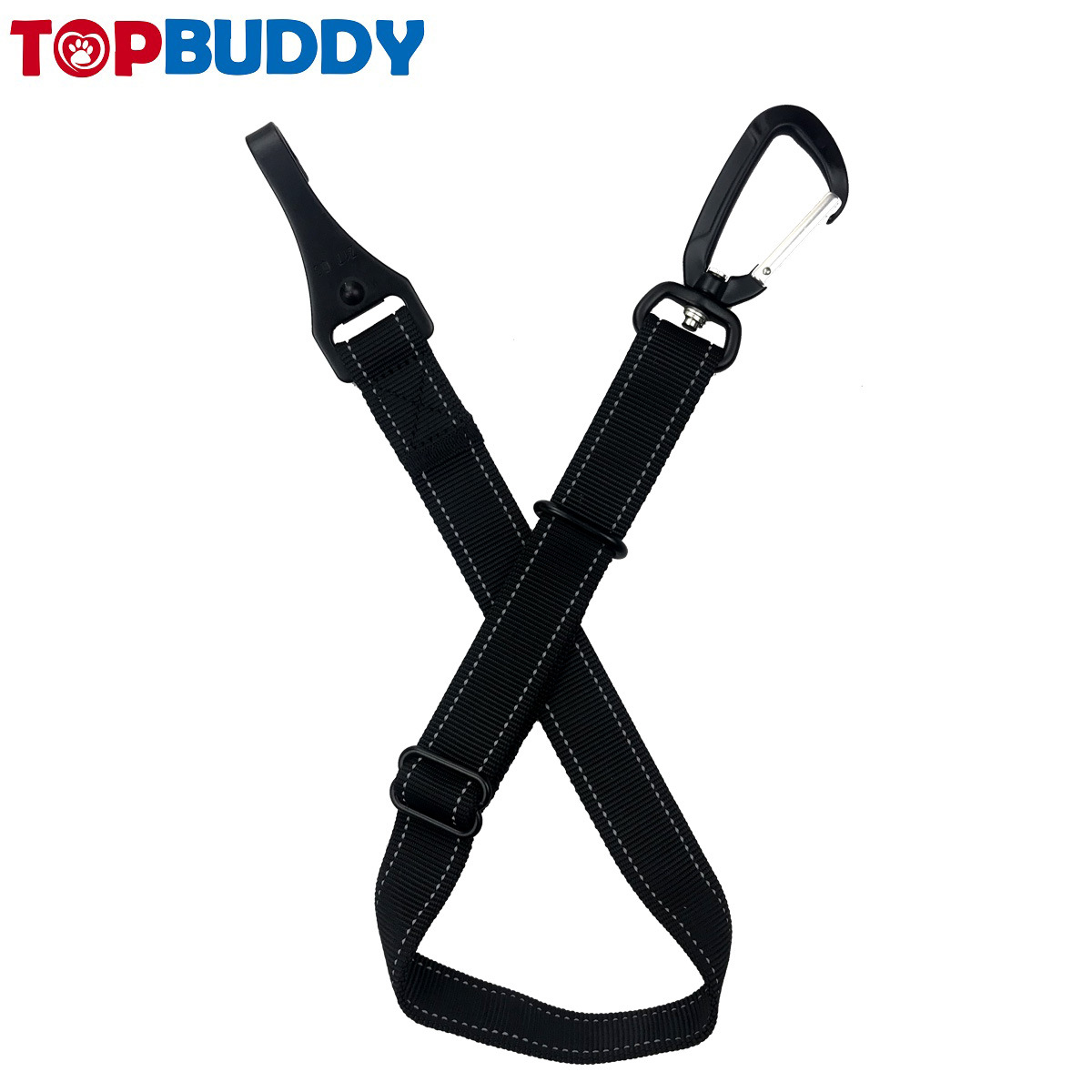 Hot Selling Pet Car Mounted Nylon Traction Belt Aviation Aluminum Material Dog Buckle Strong Safety Belt