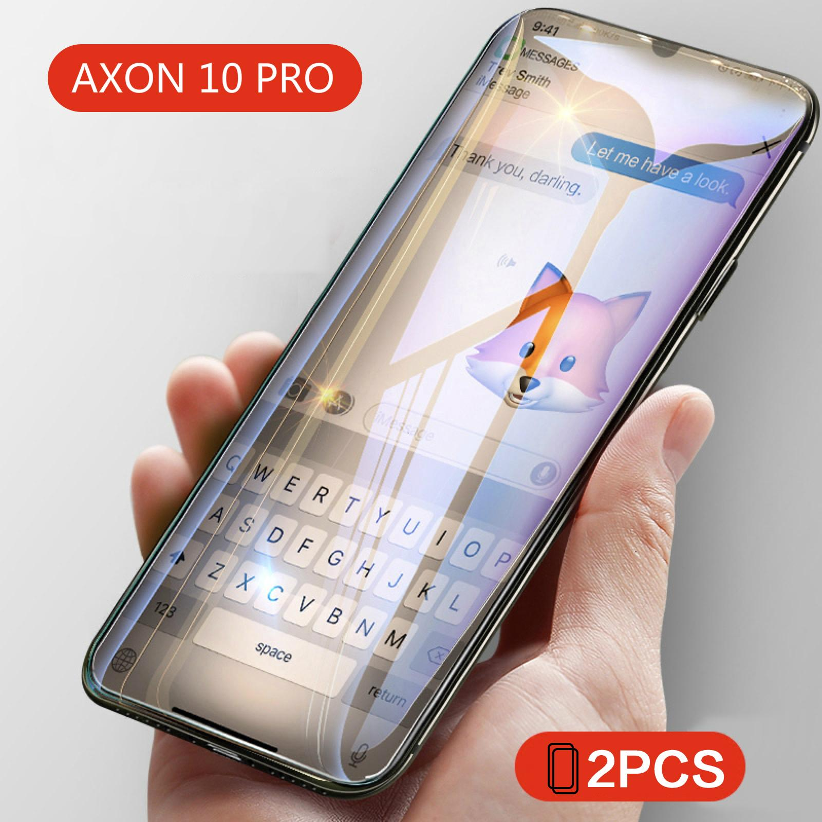 (2 Pieces) Auroras For ZTE AXON 10 Pro Tempered Glass Full Screen Cover Glass Protector Film For AXON 10 Pro Glass Film