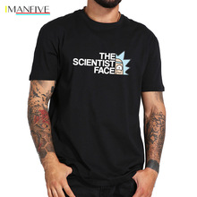 Mayma Rick And Morty T shirt Cool Anime Casual The Science Face Tshirt Geek 100% Cotton Tops Tee EU Size цена