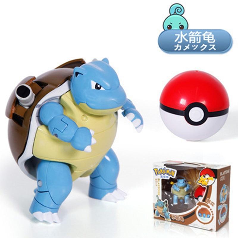 Mattel Pokemon Toy Deformable figure Pikachu Charizard Mewtwo Blastoise Venusaur Gyarados Deformations Set Kids Toys
