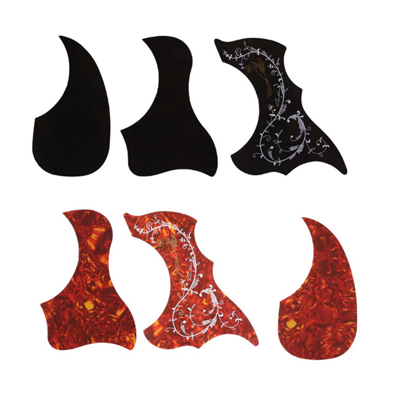 Professional Guitar Pickguard Folk Acoustic Self-adhesive Pick Guard  Sticker Scratch Plate Guitar Accessories Drop Bird Shaped