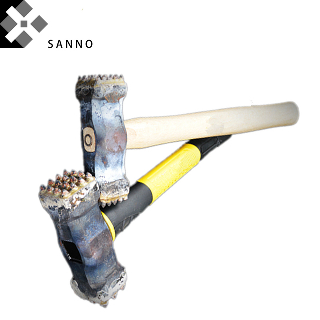 Alloy Hammer size 25x25 / 16x16 / 9x16 button sledge hammer with wood handle chipping bit for stone, cement concrete