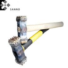 Lega di dimensioni 25x25/16x16/9x16 pulsante sledge Hammer con manico in legno scheggiatura bit per la pietra, di cemento armato
