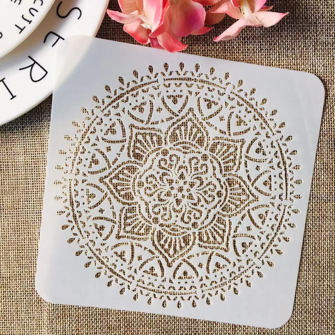 S M L Mandala Wheel Round Flower DIY Layering Stencils Painting Scrapbook Coloring Embossing Album Decorative Template