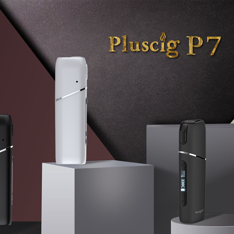 Pluscig P7 charged electronic cigarette vape Box up to 38-45 continuous smokable compatibility with Heating Tobacco stick 2