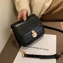 Bags Women Crocodile Bolsas Luxury Designer Handbags Women Leather Handbags Stone Messenger Purse Retro Bolsos Para Mujer