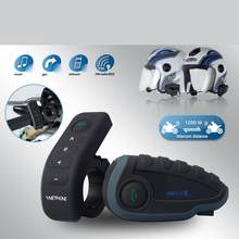 V8 casco de motocicleta intercomunicador casco auriculares para auriculares 5 pilotos BT Intercoms FM Radio NFC Control remoto(China)