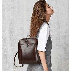 Image 5 - 2019新ヴィンテージブランド豪華な革の女性のショルダーバッグ大容量スクールガールレジャーbackpac