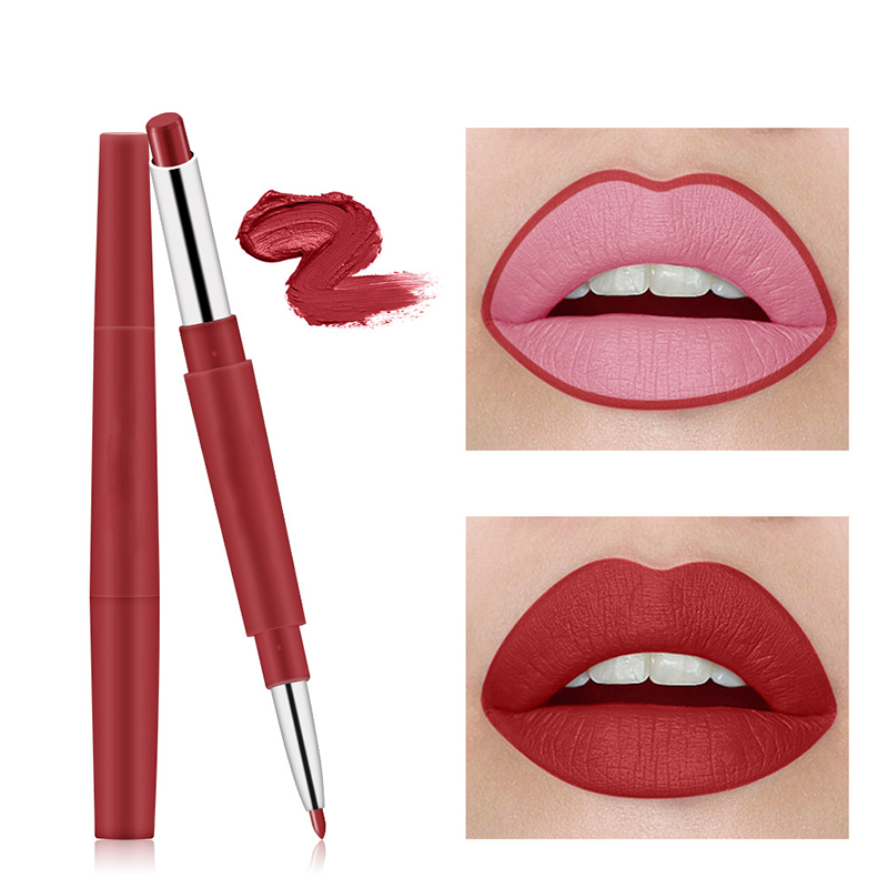 New Arrival Miss Rose Brand Beauty Matte Lipstick Long Lasting Tint Lips Cosmetics Lipgloss Maquiagem Makeup Red Batom image