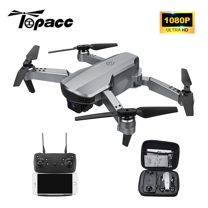 Topacc T58 WIFI FPV 106.7g Foldable Arm Drone RC Quadcopter Mini Wide Angle Profesional HD 1080P Camera Hight Hold Mode RTF Dron