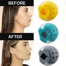 Boule d'exercice de mâchoire en Gel de silice de qualité alimentaire, pour l'entraînement musculaire du visage