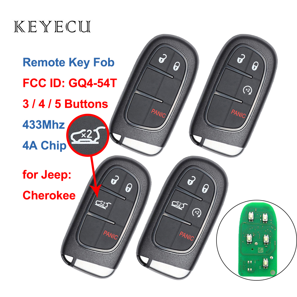 2012 2013 2014 2015 2016 2017 2018 OEM Dodge RAM Smart Key Fcc GQ4-54T 3 Buttons