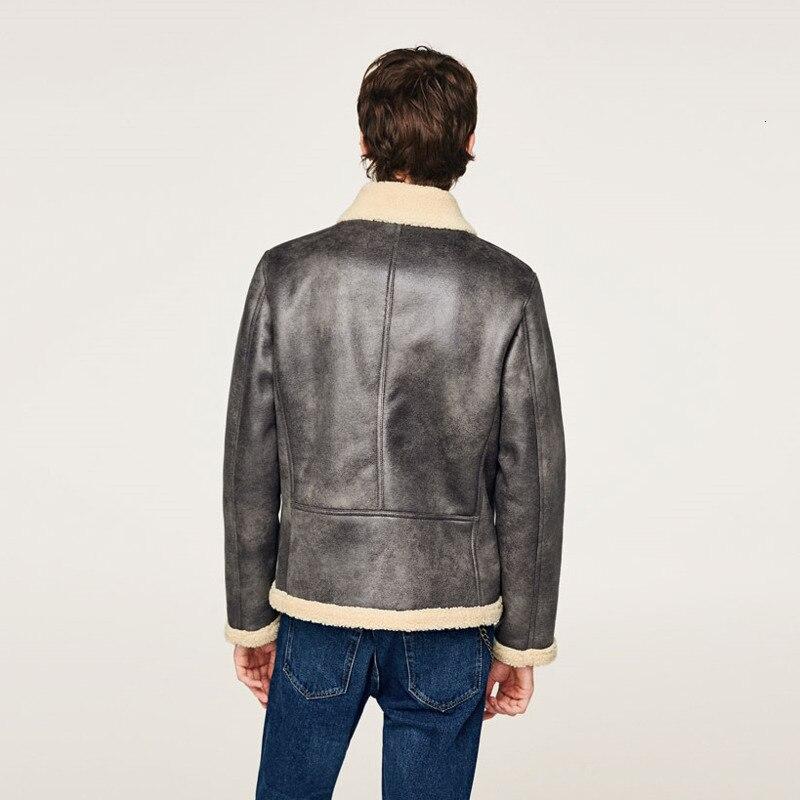 EWQ/2019 Новая модная осенне зимняя короткая бархатная куртка для мужчин свободного покроя с лацканами в японском стиле Chaqueta Hombre 9A164 - 5