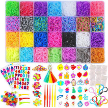 DIY Great creative Rainbow Rubber Bands Refill Kit Handicrafts Rainbow Braided Rubber Bands Loom Refill DIY Bracelet Rubber Kit цены