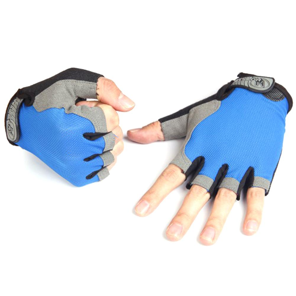 1Pair Half Finger Gloves Bicycle Riding Gloves Anti Slip Mountain Bike Glove Outdoor Sports Cycling Supplies