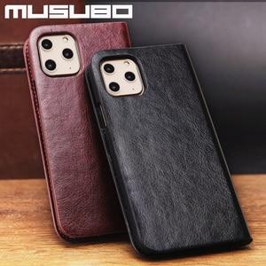 Image 4 - Musubo Leather Case Voor Iphone 11 Pro Max 8 Plus 7 Luxe Wallet Telefoon Gevallen Cover Voor Iphone Xs Max X 6 6S Plus Card Capa Coque
