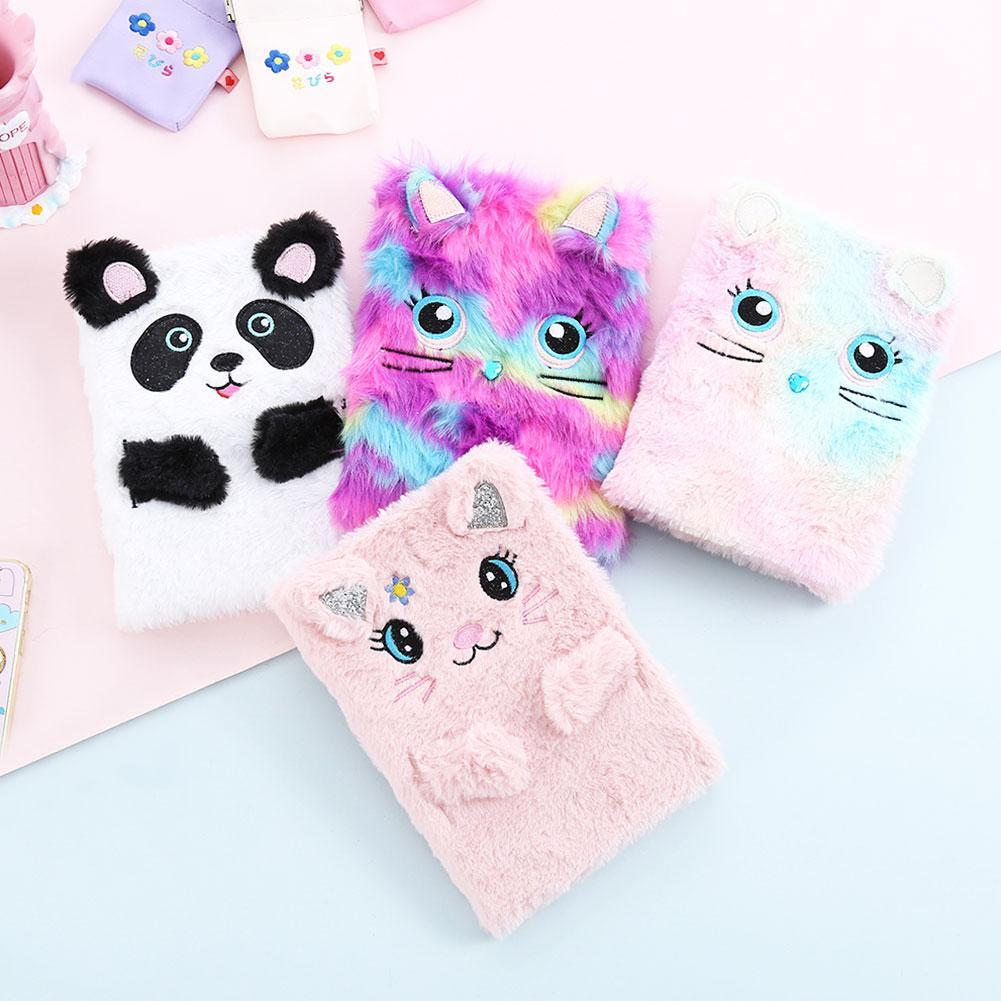 Plush Cartoon Cute Diary Book Notebook Notepad Paper High Quality Stationery Kawaii Planner Books School Office Bullet Journal