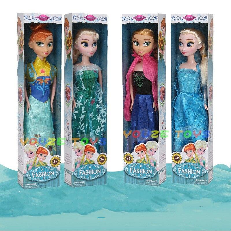 No Box Four Styles High Quality Boneca 30cm Elsa Doll Girls Toys Fever 2 Princess Anna And Elsa Doll Clothe For Dolls Children