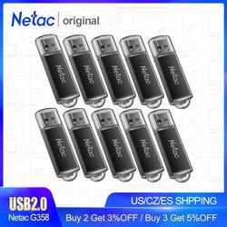 Netac 8GB 16GB Pendrive De Metal Unidade Flash USB Cle USB Memoria Flash de Alta Velocidade USB 2.0 Flash Disk Pen Drive Memory Stick G358