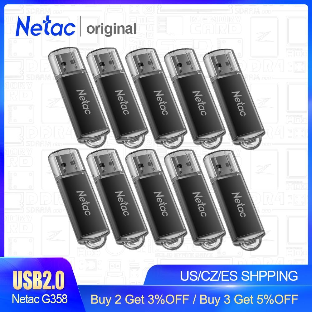 Netac Metal USB Flash Drive 8GB 16GB Pendrive Cle USB Flash Memoria High Speed USB 2.0 Flash Disk Pen Drive Memory Stick G358