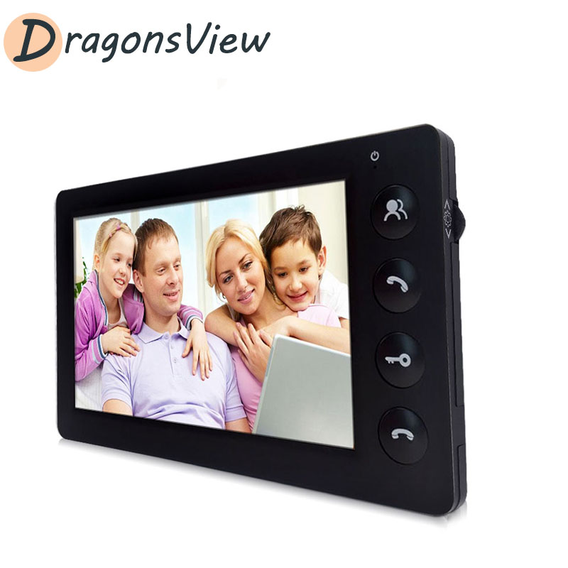 DragonsView Video Intercom 7'' Wired Indoor Monitor Visual Door Phone For Homes Business Day Night Vision